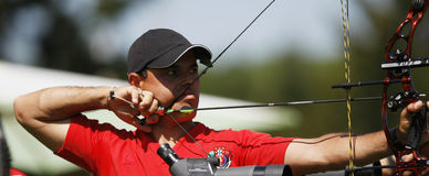 NOBRE Joao (POR). 18th European and mediterranean Archery Championships.Vittel.France.12 to 17 May 2008 Stock Images