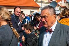 Nobre Karel Schwarzenberg que visita a peregrinação nacional em Boleslav Czech Republic idoso 28 9 2017 Imagem de Stock