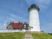 Nobska fyr i Cape Cod, Massachusetts arkivfoto