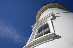 Nobska-Leuchtturm, Holz-Loch, USA Lizenzfreies Stockbild