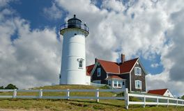 Nobska light house Royalty Free Stock Images