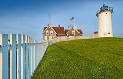 Nobska lighthouse Stock Images