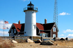 Nobska Lighthouse on Cape Cod. Nobksa Lighthouse on Cape Cod near Falmouth royalty free stock image