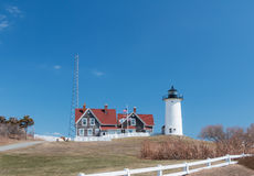 Nobska Lighthouse in Cape Cod Stock Image