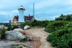 Nobska Lighthouse royalty free stock photography