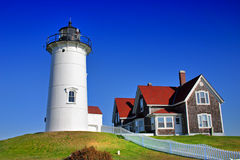 Nobska Lighthouse, USA Royalty Free Stock Photos