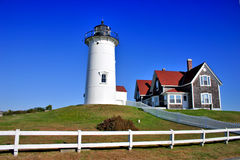 Nobska Lighthouse, USA Royalty Free Stock Photo