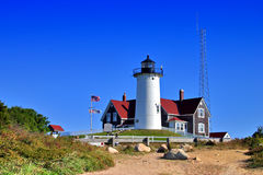 Nobska Lighthouse, USA Royalty Free Stock Images