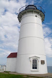Nobska (Nobsque) Lighthouse. The Nobska Lighthouse in Woods Hole, Cape Cod, Massachusetts Stock Image
