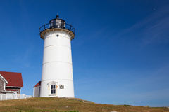 Nobska Point Light is a lighthouse located on the Cape Cod, USA Royalty Free Stock Photo