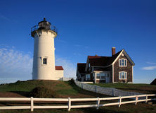Nobska Punkt-Leuchte, Cape Cod Lizenzfreie Stockbilder