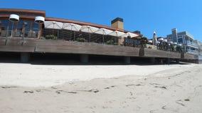 Nobu-Strandrestaurant in Malibu stock footage