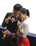 Nobunari Oda e Akiko Suzuki (JPN) Fotografia Stock