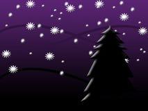 noc śnieżna Obraz Royalty Free
