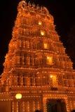 noc świątynia zdjęcie royalty free