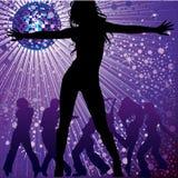 noc świetlicowi dancingowi ludzie Obrazy Royalty Free