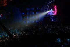 noc świetlicowy światło reflektorów Zdjęcia Royalty Free