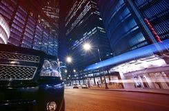 Noc Życie Chicago zdjęcie royalty free