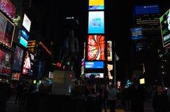Noc Нью-Йорка Таймс площадь Стоковое Изображение