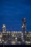 noc 9 rafineryjny obraz stock