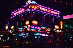 Noc bar obrazy royalty free