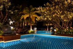 noc basenu dopłynięcie Zdjęcie Royalty Free