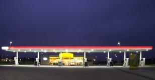 noc benzynowa stacja Zdjęcie Stock