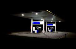 noc benzynowa stacja Zdjęcie Royalty Free