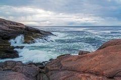 Noc biegunowy dzień na Barents morzu obrazy royalty free
