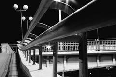 noc bridżowy widok Fotografia Royalty Free