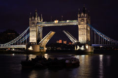 noc bridżowy wierza Obrazy Royalty Free