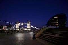 noc bridżowy wierza Zdjęcia Royalty Free