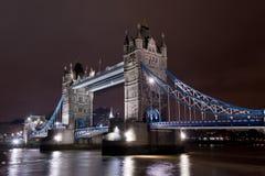 noc bridżowy wierza Fotografia Stock
