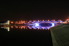 noc bridge fotografia stock
