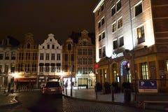 Noc Bruksela Obraz Royalty Free