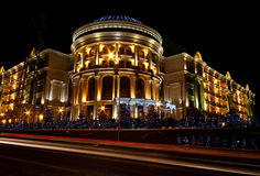 Noc budynek Zdjęcie Royalty Free