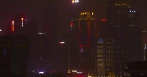Noc budynki w Shenzhen Chiny zbiory