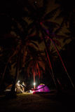 Noc camping Obrazy Royalty Free