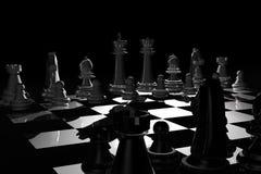 noc chess Zdjęcia Royalty Free