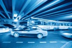 noc ciężki ruch drogowy Obrazy Stock