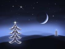 noc cicha ilustracja wektor