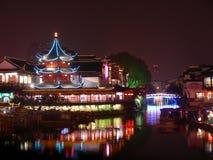 noc confucian sceny do świątyni Zdjęcie Royalty Free