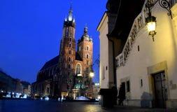 Noc Cracow zdjęcie royalty free