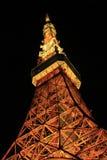 noc część sceny Tokyo wierza Obrazy Stock