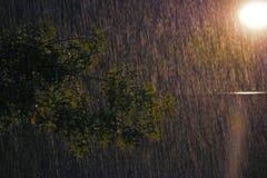 noc dżdżysta obraz stock