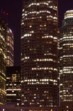 noc drapacz chmur czas vertical Fotografia Royalty Free
