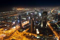 Noc Dubaj Obraz Stock