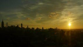 Noc dzień Timelapse Nad środkiem miasta Manhattan zbiory