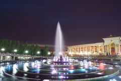 Noc fontain zdjęcia stock