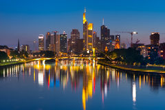 Noc Frankfurt magistrala - Am - Zdjęcie Stock